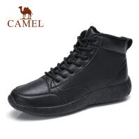 camel骆驼男鞋 秋冬新款时尚复古工装靴真皮轻质厚底英伦休闲靴子