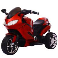 电动摩托车小孩男三轮车1-2-3-5-6岁大号宝宝充婴儿电瓶车