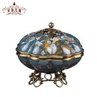 欧美式首饰盒收纳盒陶瓷工艺品家居展示柜饰品盒子客厅装饰摆件