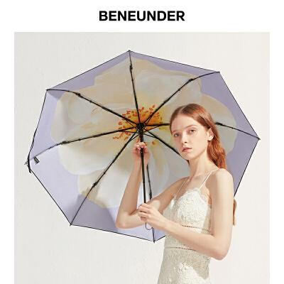 蕉下梨白太阳伞女晴雨两用折叠雨伞防晒防紫外线小黑伞全身遮阳伞 蕉下梨白太阳伞女晴雨两用折叠雨伞