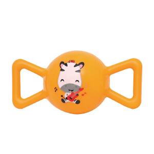 【当当自营】费雪FisherPrice 糖果摇铃球皮球婴幼儿手抓球充气发声铃铛球手柄球摇摇球F0902黄色