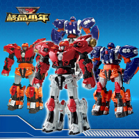 正版核晶少年玩具合金自动合体战兽环手表夺晶变形机器人套装儿童自动二合体