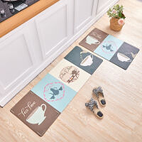 厨房地垫脚垫满铺防油防滑垫家用防水PVC长条可擦洗免洗皮革