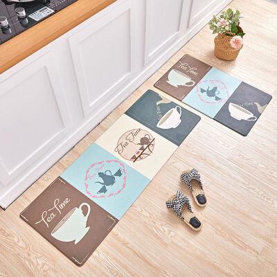 厨房地垫脚垫满铺防油防滑垫家用防水PVC长条可擦洗免洗皮革 秋英家纺。温润如玉