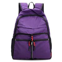 时尚女包布包轻便双肩包多兜折叠书包大容量便携旅行背包登山女包