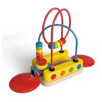 Hape火车轨道彩虹绕珠18个月以上儿童早教火车轨道玩具婴幼玩具木制玩具E3811