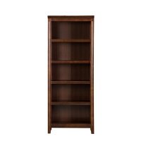 美式实木书架书柜简约现代简易收纳欧式书橱客厅储物柜展示柜 0.6-0.8米宽