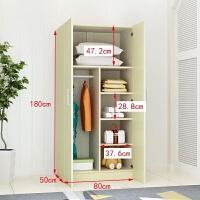 简易实木大衣柜组合家具衣橱现代简约2门3门4组装木质柜子推拉门