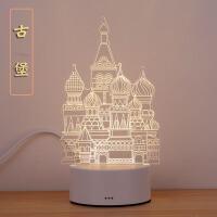 3D小台灯创意卡通床头卧室灯梦幻柔光生日礼物LED婴儿喂奶起夜灯