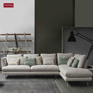 【年终狂欢 限时直降 质保三年】北欧舒适系亲肤沙发WM1833 组合沙发转角沙发牛皮沙发羽绒沙发乳胶沙发