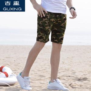 夏季运动短裤男休闲裤薄款透气迷彩裤五分裤青年潮跑步篮球裤古星