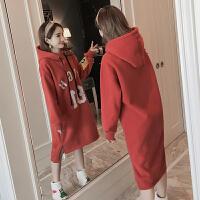 季孕妇装孕妇卫衣中长款秋装加绒加厚上衣宽松大码套头外套潮