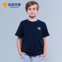 2018童装男童短袖T恤衫纯色薄款夏装中大童上衣休闲圆领体恤打底衫