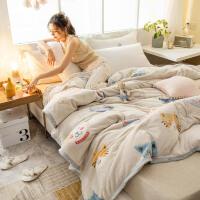 法兰绒薄毯子垫床被子午睡毛毯冬季双人加厚保暖床单人学生宿舍