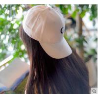 帽子 嘻哈帽 棒球帽 韩版简约C标月亮鸭舌帽女嘻哈街舞棒球帽子男士户外遮阳防晒