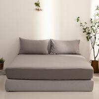 多喜爱水洗全棉床笠单件床套床垫套席梦思防滑床罩雾色烟波灰1.2米床