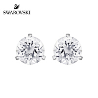 SWAROVSKI/施华洛世奇 单颗水晶般质感耳环简洁耳钉 镀白金色1800046