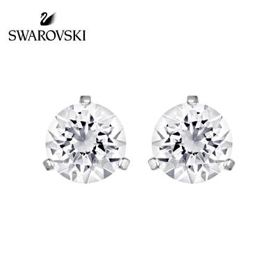 SWAROVSKI/施华洛世奇 单颗水晶般质感耳环简洁耳钉 镀白金色1800046正品保障(可使用礼品卡)