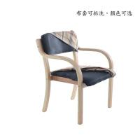 【家装节 夏季狂欢】餐椅实木椅子靠背椅书房家用餐厅现代简约带扶手曲木电脑椅咖啡椅