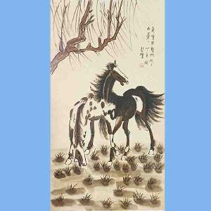 现代画家,美术教育家,建国后任中央美术学院院长,中华全国美术工作者协会主席徐悲鸿(2马)2