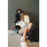 小香风韩版新款时尚百搭撞色拼接卫衣学院风短款套头卫衣女潮
