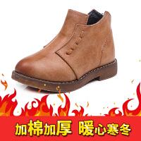 女童靴子短靴2017春秋季新款小女孩公主单靴韩版马丁靴童鞋 棕色(加棉) 26码(内长约15.5cm)