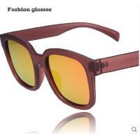复古长方形大框圆脸偏光彩膜太阳镜 潮流户外墨镜 休闲旅游眼镜