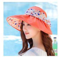 女士遮阳帽夏天 韩版潮防紫 外线大沿沙滩防晒太阳帽可折叠凉帽