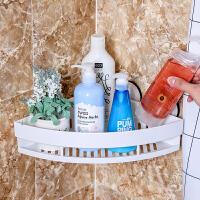dehub吸盘收纳架 浴室置物架壁挂厕所三角架卫生间置物架 转角整理架 单层