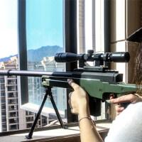 AWM巴雷特狙击枪98K*抢成人玩具枪可发射M416绝地求生模型