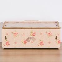 桌面防尘木质收纳盒子 化妆品面膜储物盒 日式多层抽屉小柜子娃屋 春花 1层抽屉