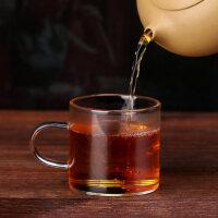 光一玻璃杯茶具功夫水杯带把小茶杯有手柄杯子套装家用喝水品茗6只装