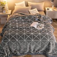 君别商场被子冬天单人珊瑚绒毯子冬季加厚保暖法兰绒毛毯双层宿舍学生床单午睡 双层加厚100X120cm 午睡毯