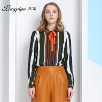 BAGPIPE/风笛2017新款春季女士衬衣长袖衬衫雪纺衫女英伦欧美上衣
