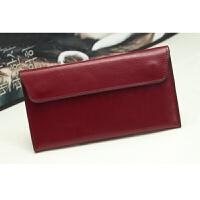 韩版款长款女士钱包时尚软皮钱夹约薄款翻盖信封包世帆家SN3008