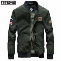 吉普Jeep秋冬新款立领短款夹克男外套RSC014罗纹袖口罗纹下摆茄克