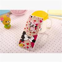 可爱迪士尼指环支架iPhone6手机壳 米奇米妮苹果6plus保护套 5s潮iphone6s手机壳iphone6spl