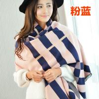 围巾女韩版冬天长款加厚保暖纯色英伦格子披肩两用百搭仿羊绒围脖