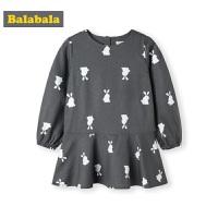 巴拉巴拉童装儿童连衣裙秋装新款韩版小童宝宝长袖裙女童洋气
