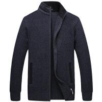 伯思凯羊毛衫男士翻领开衫毛衣 秋季新款时尚休闲纯色毛衣男外套