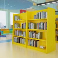 图书馆书架彩色书柜多能功展示架学校幼儿园培训班图书馆阅览室双面书架