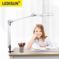 LEDISUN LED夹灯儿童学生学习阅读书桌工作护眼灯 床头灯夹子台灯 6P