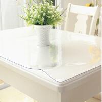 桌布PVC透明 防水印台布餐桌垫 pvc免洗餐厅桌布水晶板 光面透明2.0毫米厚 60cm宽*1米