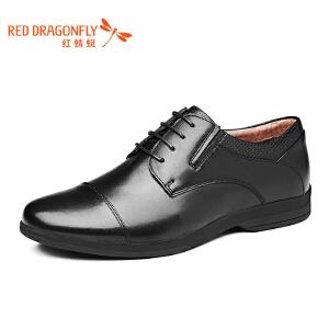 红蜻蜓皮鞋2017年春秋新款男士商务休闲正装皮鞋真皮正品低帮单鞋