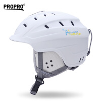 新款男女保暖透气头盔护具装备通用一体成型滑雪头盔