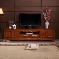 实木电视柜现代中式欧式电视柜新中式电视柜实木香樟木电视柜地柜 组装