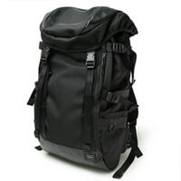 男登山包大容量旅行包单骑车包户外游防水黑色男双肩背包 黑色