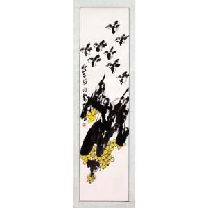 著名画家  崔子范《枇杷》