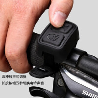 山地车死飞夜骑骑行装备t6强光手电自行车灯车前灯USB充电喇叭筒