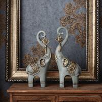 创意对象摆件家居饰品中式客厅玄关酒柜装饰工艺品三件套摆设